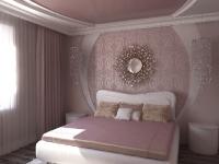 Натяжные потолки в спальной комнате_11