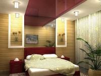 Натяжные потолки в спальной комнате_12
