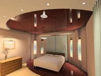 Натяжные потолки в спальной комнате_13