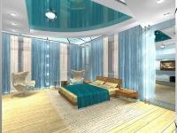 Натяжные потолки в спальной комнате_16