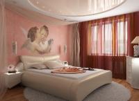 Натяжные потолки в спальной комнате_18