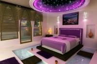 Натяжные потолки в спальной комнате_19