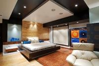 Натяжные потолки в спальной комнате_1