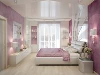 Натяжные потолки в спальной комнате_20