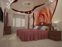 Натяжные потолки в спальной комнате_22