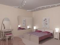 Натяжные потолки в спальной комнате_26