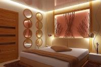 Натяжные потолки в спальной комнате_4