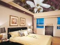Натяжные потолки в спальной комнате_7