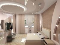 Натяжные потолки в спальной комнате_8