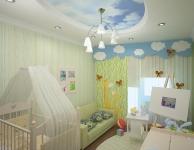 Натяжные потолки в детской комнате_1