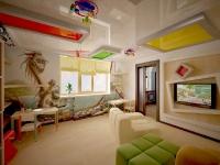 Натяжные потолки в детской комнате_24