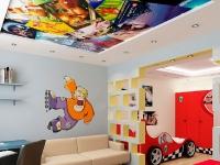 Натяжные потолки в детской комнате_27