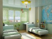 Натяжные потолки в детской комнате_32