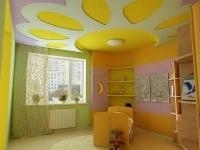 Натяжные потолки в детской комнате_6