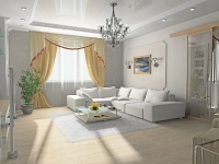 Натяжные потолки в зале, гостинной_15