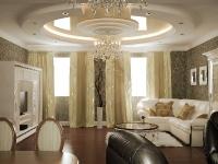 Натяжные потолки в зале, гостинной_35