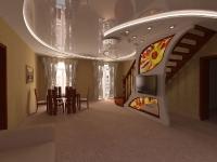 Натяжные потолки в зале, гостинной_39
