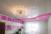 Натяжные потолки на кухне_29