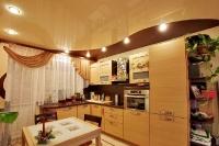 Натяжные потолки на кухне_30