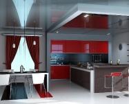 Натяжные потолки на кухне_6