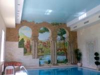 Натяжные потолки в бассейне, сауне_10