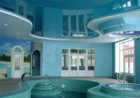 Натяжные потолки в бассейне, сауне_11