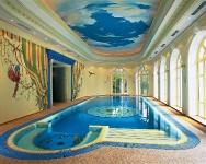 Натяжные потолки в бассейне, сауне_17
