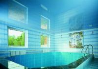 Натяжные потолки в бассейне, сауне_1