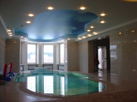 Натяжные потолки в бассейне, сауне_26