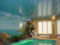 Натяжные потолки в бассейне, сауне_2