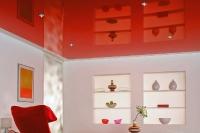 Цветные натяжные потолки_35