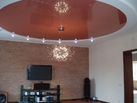 Натяжные потолки в зале, гостинной_10