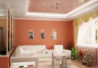 Натяжные потолки в зале, гостинной_12