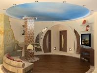Натяжные потолки в зале, гостинной_13