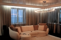 Натяжные потолки в зале, гостинной_14