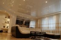 Натяжные потолки в зале, гостинной_19