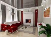 Натяжные потолки в зале, гостинной_22