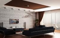 Натяжные потолки в зале, гостинной_23