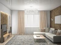 Натяжные потолки в зале, гостинной_36