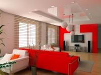 Натяжные потолки в зале, гостинной_3