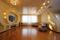Натяжные потолки в зале, гостинной_8
