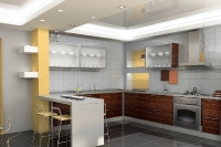 Натяжные потолки на кухне_28