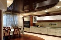 Натяжные потолки на кухне_7