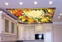 Натяжные потолки на кухне_8
